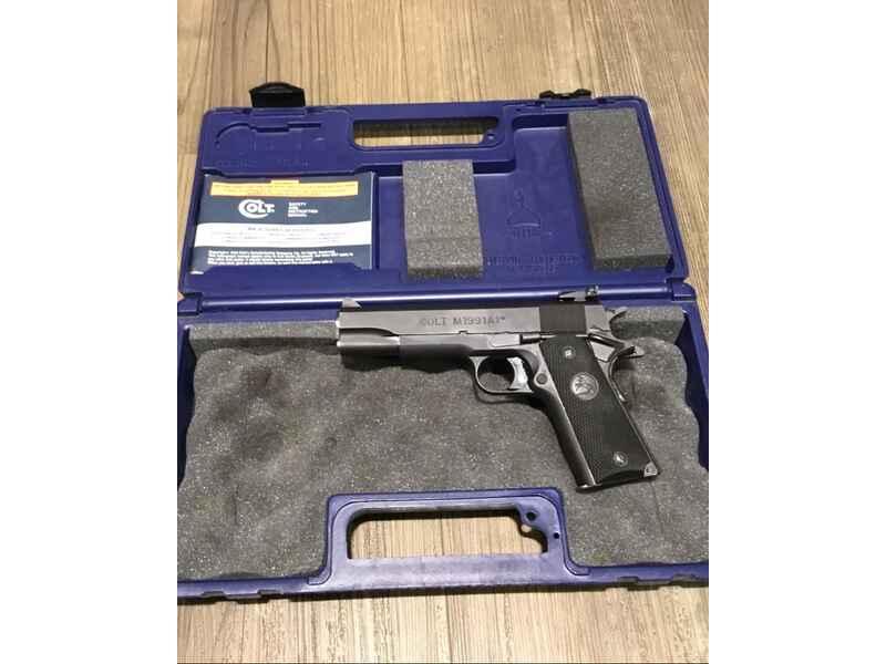 Pistole COLT 1911 Series 80 Kal.9 MM LUGER gebr. - Pistolen - Waffen ...