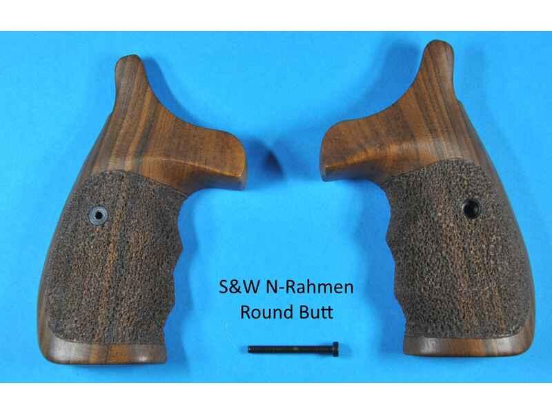 Nussbaum-Griff für S&W Revolver mit N-Rahmen Round Butt (runder ...