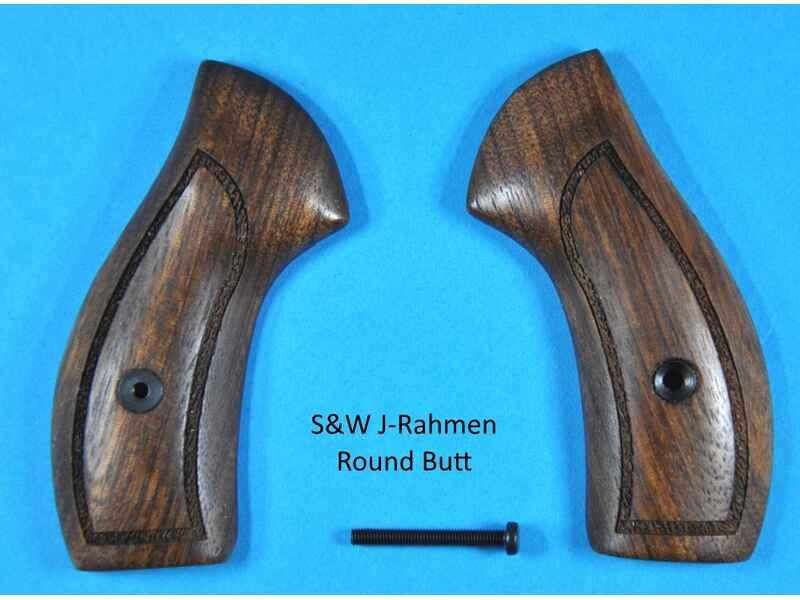 Nussbaum-Sport-Griffschalen für S&W Revolver K/L Rahmen Round Butt ...