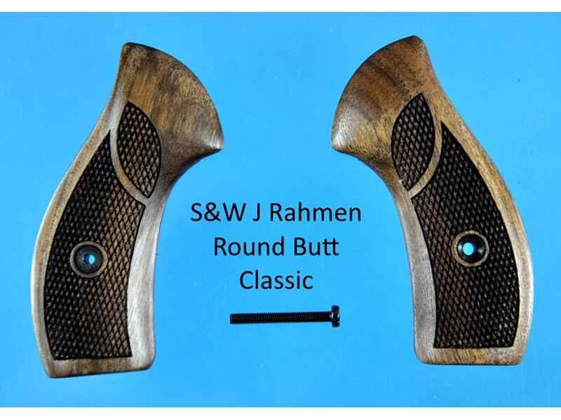 Nussbaum-Griffschalen für S&W J-Rahmen Round Butt (runder Rahmen ...