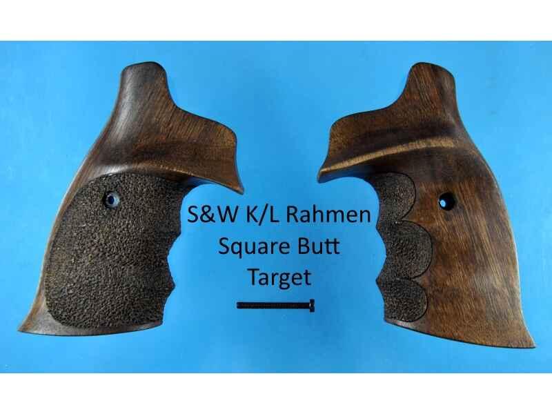 Nussbaum-Griffschalen für S&W K/L-Rahmen Square Butt (eckiger Rahmen ...
