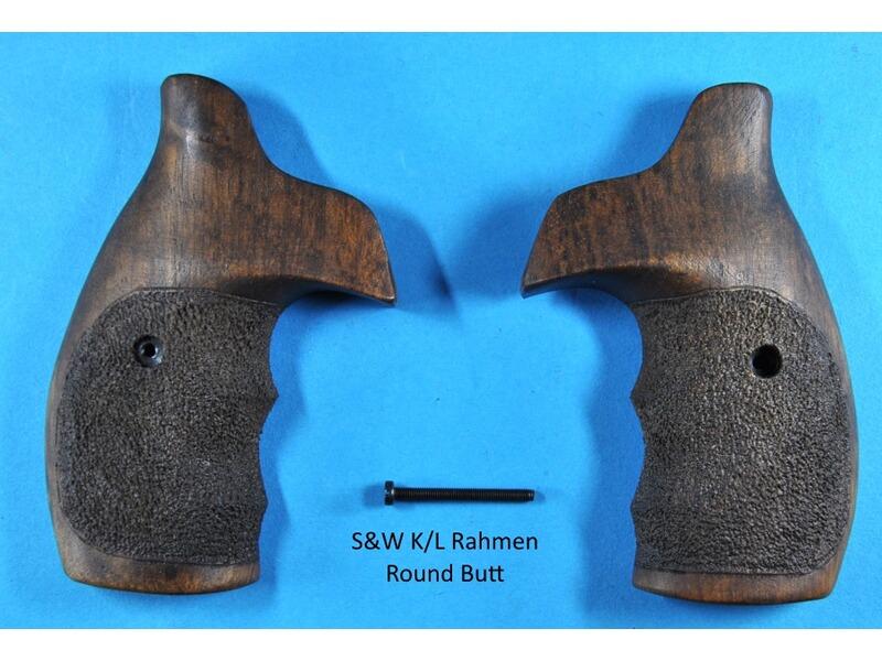 Nussbaum-Griffschalen für S&W K/L-Rahmen Round Butt (runder Rahmen ...