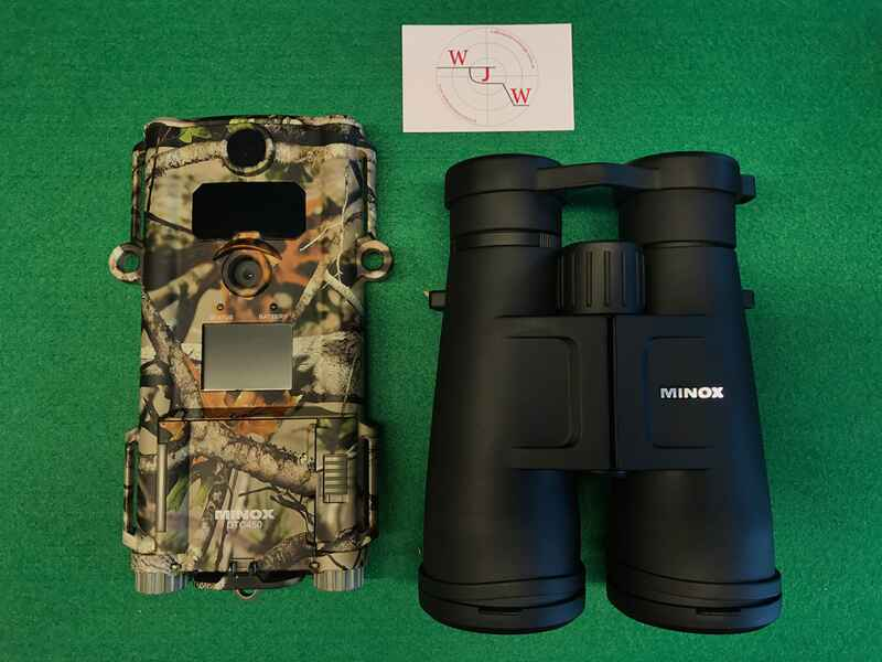 Minox set fernglas bv 8x56 und wildkamera dtc 450 slim ferngläser