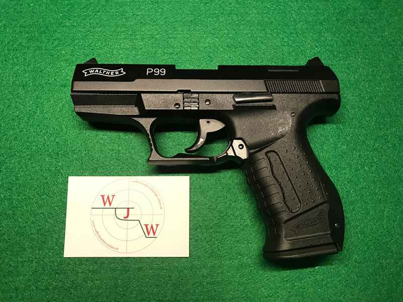 Walther p 99 schwarz 9 mm p.a. knall gas & signalwaffen waffen