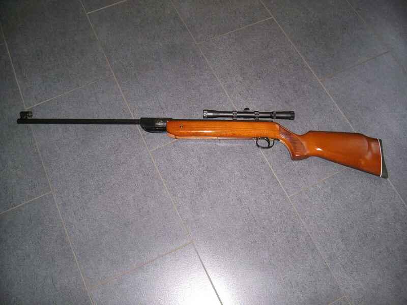 Luftgewehr diana 35 mit zielfernrohr und f zeichen luftdruckwaffen