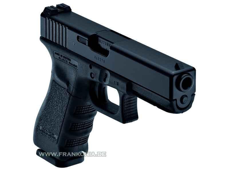 Pistole Glock 17 brüniert ADJ 17 Schuß Kaliber 9 mm Luger - Pistolen ...