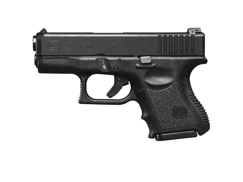 Pistole Glock 26 ADJ brüniert 10-Schuß Kaliber 9mm Para - Pistolen ...