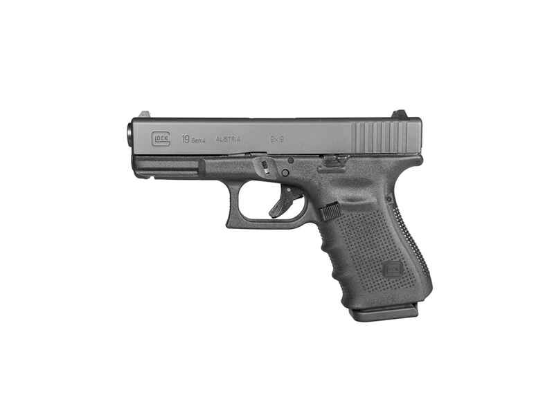 Pist. Glock 19 Gen4,ADJ,blue, 9mm Para - Pistolen - Waffen ...